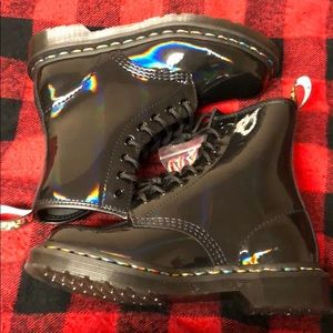 Dr Martens Boots 1460 Black Rainbow Size 5 NEW